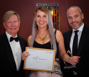 David Kendall (R) with business colleague Polly Lawrence and Auditel MD Chris Allison (L)