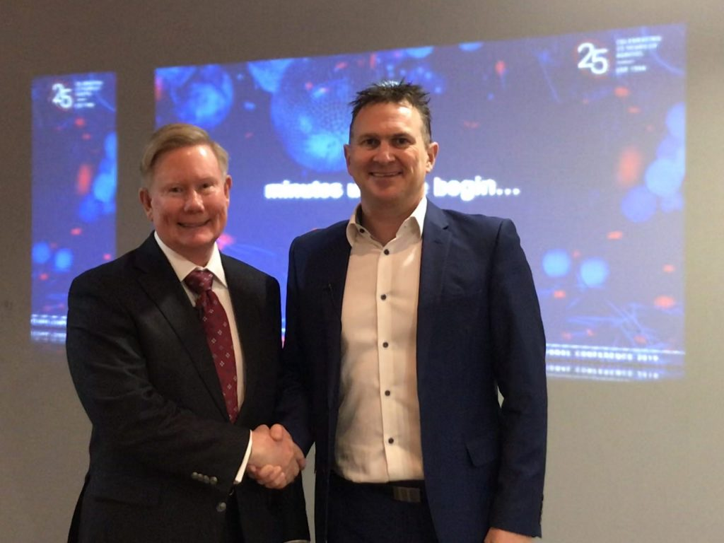 Auditel Founder Chris Allison (L) with new Managing Director Chris Aston (R)