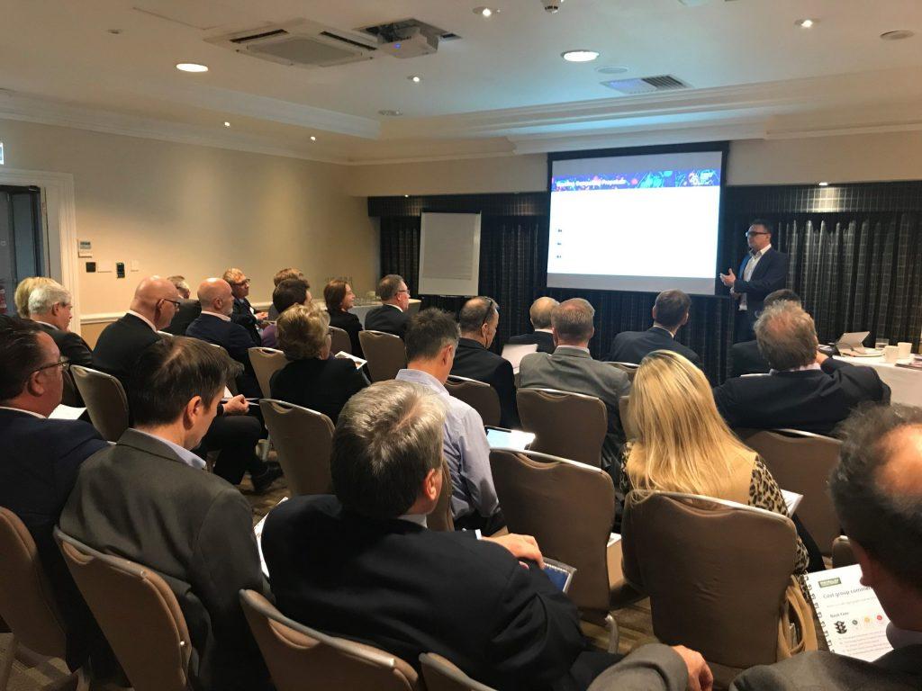 Chris Aston delivers a marketing workshop at the Auditel 2019 National Conference